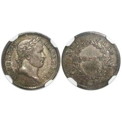 France (Paris mint), 1/4 franc, Napoleon I, 1809-A, encapsulated NGC MS 63.