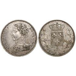 France, 5 francs, Henri V (pretender), 1831.