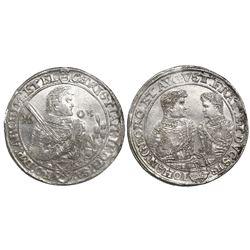 Saxony (German States), taler, Christian II, Johann Georg and August, 1605, Dresden mint.