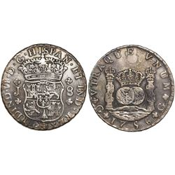 Guatemala, pillar 8 reales, Ferdinand VI, 1756J.