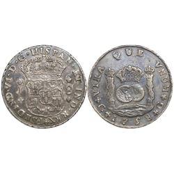 Guatemala, pillar 8 reales, Ferdinand VI, 1758J.