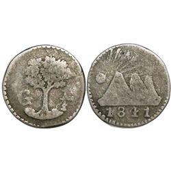 Guatemala (Central American Republic), 1/4 real, 1841G, very rare.