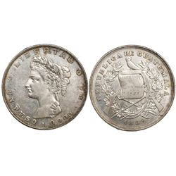 Guatemala, 1 peso, 1889MG.