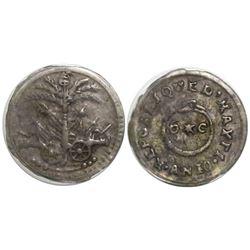 Haiti, 6 centimes, AN 10 (1813), rare, encapsulated PCGS XF40.