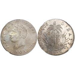 Haiti, 100 centimes, AN 27 (1830), Boyer, encapsulated NGC MS 61.