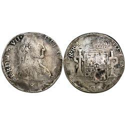 Durango, Mexico, bust 8 reales, Ferdinand VII, 1812RM.