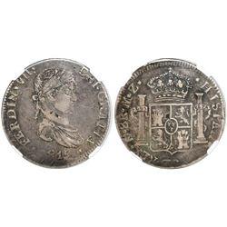 Durango, Mexico, bust 8 reales, Ferdinand VII, 1815MZ, encapsulated NGC VF 30.