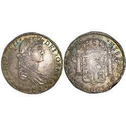 Guadalajara, Mexico, bust 4 reales, Ferdinand VII, 1814MR.