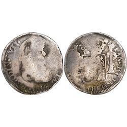 Zacatecas, Mexico, bust 8 reales, Ferdinand VII, 1814AG, ex-Calbeto.