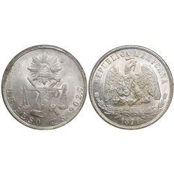 Guanajuato, Mexico, 1 peso, 1871S, encapsulated NGC MS 61.