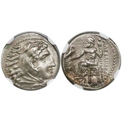Kingdom of Macedon, AR drachm, Alexander III ( the Great ), 336-323 BC, Miletos mint, encapsulated N
