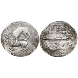 Phoenicia, Byblus, Aynel, AR shekel, ca. 350-315 BC, encapsulated NGC XF / strike 3/5 and surface 3/