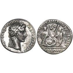 Roman Empire, AR denarius, Augustus, 27 BC-14 AD, Lugdunum mint, struck circa 5 BC.
