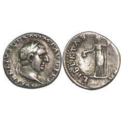 Roman Empire, AR denarius, Vitellius, 69 AD, Rome mint.