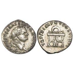 Roman Empire, AR denarius, Titus, 79-81 AD, struck 80 AD.
