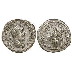 Roman Empire, AR denarius, Macrinus, 217-218 AD, Antioch mint, struck 217-218 AD.