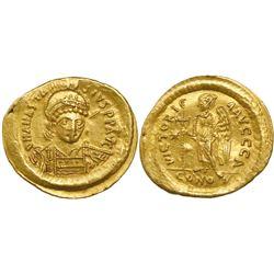 Byzantine Empire, AV solidus, Anastasius I, 491-518 AD, Constantinople mint.