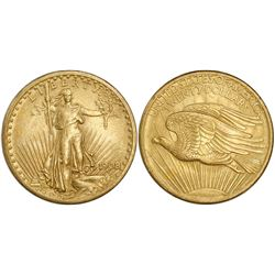 USA (Philadelphia mint), $20 St. Gaudens, 1908, no motto.