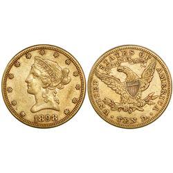 USA (San Francisco mint), $10 coronet Liberty, 1898-S.