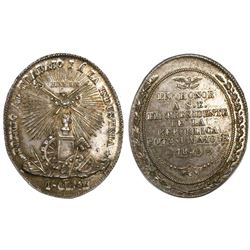 Potosi, Bolivia, oval silver medal, 1859, Industry (1st class) / Linares.