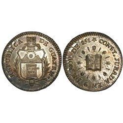 Guatemala, 1R-sized silver medal, 1851, Constitution.