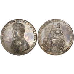Mexico City, Mexico, large silver medal, Ferdinand VII, 1809, University of Mexico City prize and pr