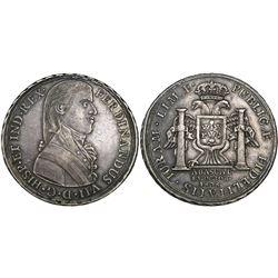Lima, Peru, 8R-sized proclamation medal, Ferdinand VII, 1808, (Viceroy) Abascal.