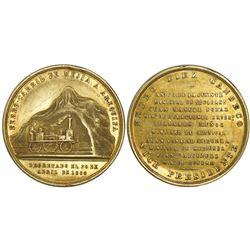 Mejia, Peru, gold medal, 1868, Mejia to Arequipa railroad, rare.