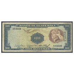 Guatemala, Banco de Guatemala, 100 quetzales, no date (1960-1965), serial 443608, certified PMG Fine