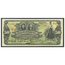 Mexico, El Banco de Coahuila, 50 pesos, 5-5-1912, series R-12, serial 11903.
