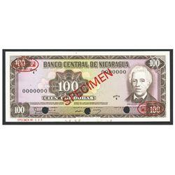 Nicaragua, Banco Central de Nicaragua, 100 cordobas specimen, no date (1979), series E.