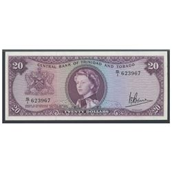 Trinidad and Tobago, Central Bank of Trinidad and Tobago, 20 dollars, 1964, serial S/I 623967, certi
