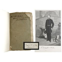 Lot of 3 documents related to USN Admiral David Porter (1813-1891), including pamphlet (1825), engra