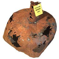 Shipwreck: Large copper-alloy funnel.