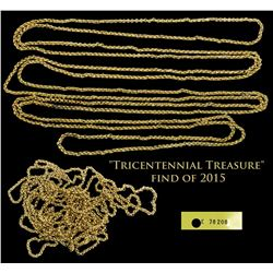 "1715 Fleet Complete gold plain-loop chain, 34.55 grams ""Tricentennial Treasure"" find of 2015."