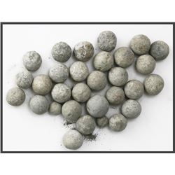 Lot of 30 lead musketballs with original certificates.
