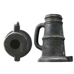 "Spanish bronze ""thundermug"" salute mortar, 1700s."