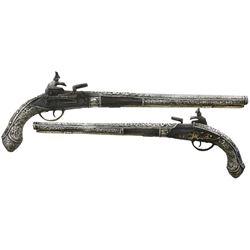 Ornate miquelet horseman's pistol, Eastern European, 1700s.