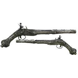 Eastern European flintlock horseman's pistol, 1700s-1800s.