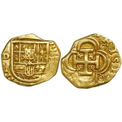 Seville, Spain, cob 1 escudo, Philip IV, assayer D.