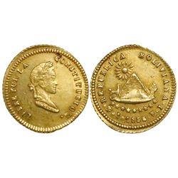 Potosi, Bolivia, 1/2 scudo, 1856FJ.