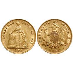 Santiago, Chile, 2 pesos, 1873.