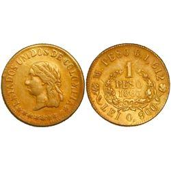 Medellin, Colombia, 1 peso, 1863.