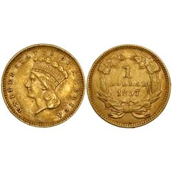 USA (Philadelphia mint), $1 large Indian princess head (Type III), 1857.