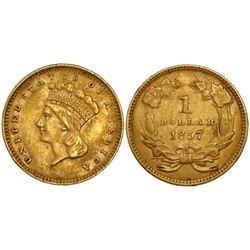 USA (Philadelphia mint), $1 large Indian princess head (Type III), 1857.