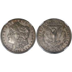 USA (New Orleans mint), $1 Morgan, 1894-O, encapsulated NGC XF 45.