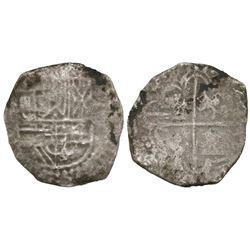 Potosi, Bolivia, cob 4 reales, Philip III, assayer not visible.