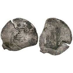 Potosi, Bolivia, cob 8 reales, (1652)E transitional Type IV, ex-Mastalir collection.
