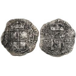 Potosi, Bolivia, cob 8 reales, 1652E transitional Type VII, ex-Mastalir collection.