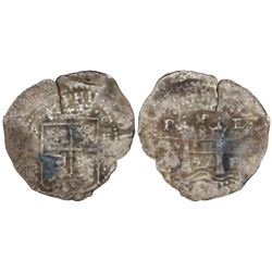 Potosi, Bolivia, cob 8 reales, (16)52E transitional Type VII, ex-Mastalir collection.